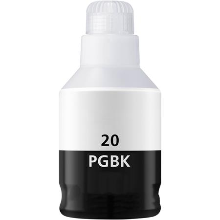 Compatible Pigment Black Canon GI-20BK Ink Bottle (Replaces Canon 3383C001)