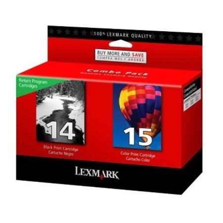 Lexmark Twin Pack No.14 and No.15 (18C2239) Black and Color Original Cartridges