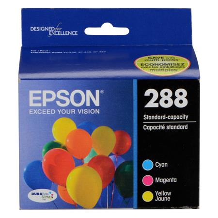 Epson 288 (T288520) Color Original DURABrite Ultra Standard Capacity Ink Cartridge Multipack