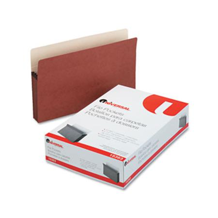 Universal 5 1/4InchInch Expansion File Pockets Straight Redrope/Manila Legal Redrope 10/Bx