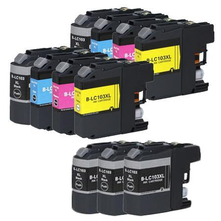 Compatible Multipack Brother LC103BK/C/M/Y 2 Full Sets +  3 EXTRA Black Ink Cartridges