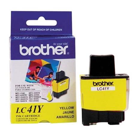 Brother LC41Y Yellow Original Print Cartridge