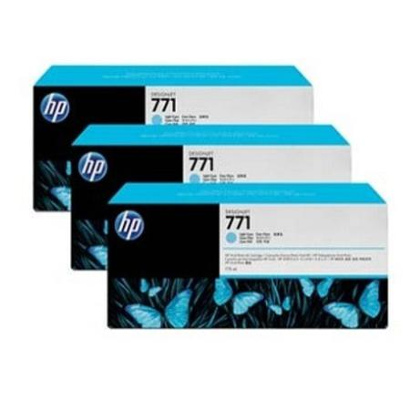 HP 91 (C9483A) Original Cyan Ink Cartridge (3 Pack)