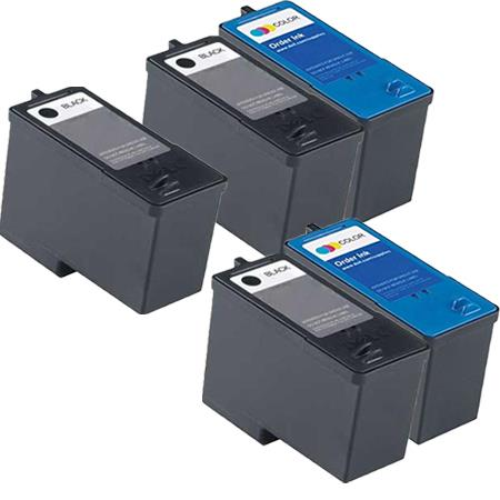 Compatible Multipack Dell M4640/M4646 2 Full Set + 1 EXTRA Inkjet Cartridges