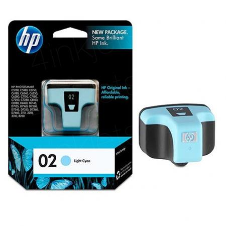 HP 02 Light Cyan Original Ink Cartridge with Vivera Ink (C8774WN)