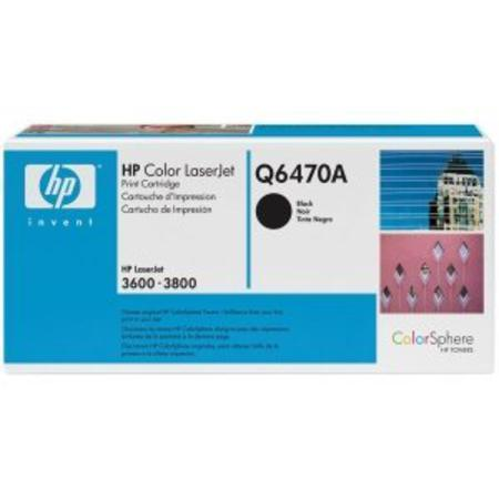 HP Color LaserJet Q6470A Black Original Print Cartridge with HP ColorSphere Toner
