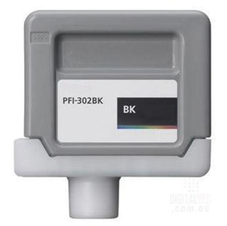Canon PFI-302BK Black Compatible Ink Cartridge