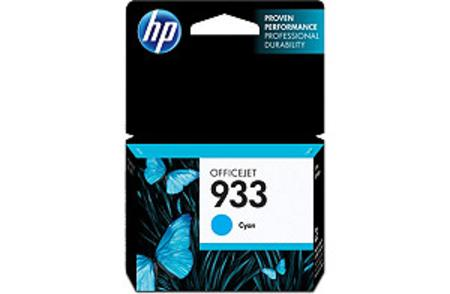HP 933 Cyan Original Standard Capacity Ink Cartridge (CN058AN)