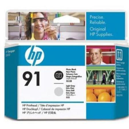 HP 91 (C9463A) Original Photo Black And Light Gray PrintHead