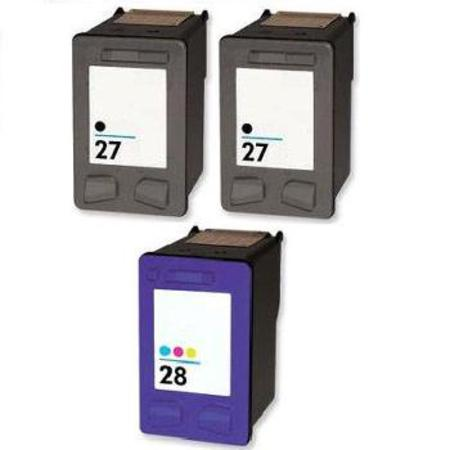 27/28 Full Set + 1 EXTRA Black Remanufactured Inks
