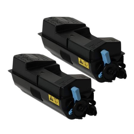 Clickinks TK-3132K Black Remanufactured Toners Twin Pack