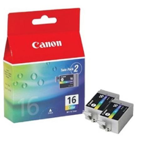 Canon BCI-16C Original Color Ink Cartridge Twin Pack