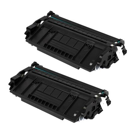 26X Black Remanufactured Toner Cartridges Twin Pack