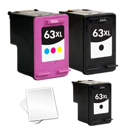 63XL Full Set + 1 EXTRA Black Remanufactured Inks (Free Paper)