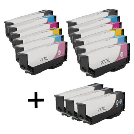 277XL 2 Full Set + 3 EXTRA Black Remanufactured Inks
