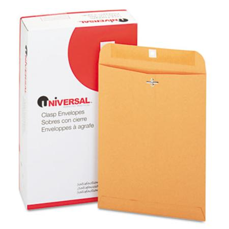 Universal Kraft Clasp Envelope  Side Seam  28lb  9 x 12  Light Brown  100/Box