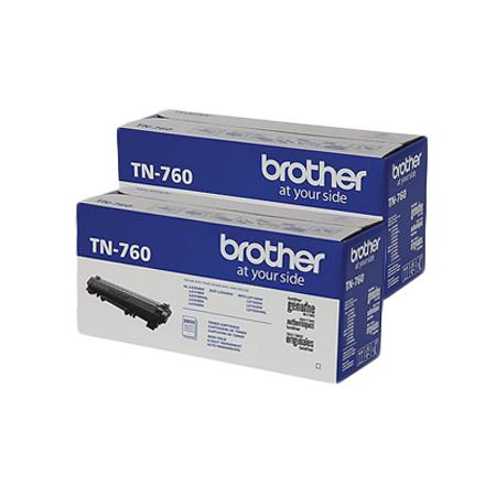 TN760 Black Original High Capacity Toner Cartridge Twin Pack