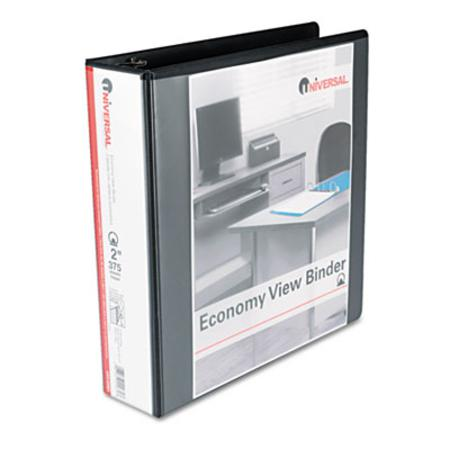 Round Ring Economy Vinyl View Binder 2Inch Capacity Black