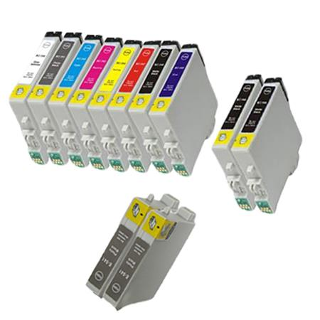 Compatible Multipack Epson T0540/T0549 Full Set + 4 EXTRA Photo&Matte Black Ink Cartridges