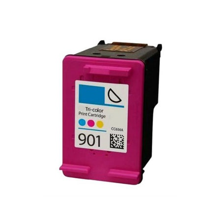 HP 901 Remanufactured Tri-color Officejet Ink Cartridge (CC656AN)