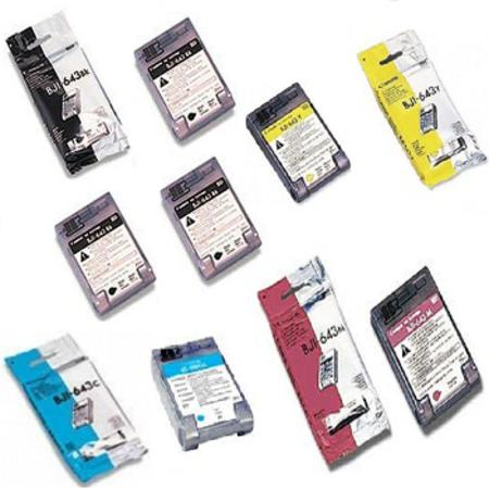Clickinks BJI-643 BK/C/M/Y Full Set + 2 EXTRA Black Compatible Inks