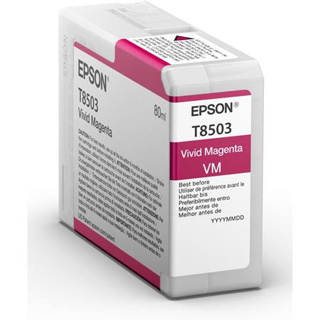 Epson T8503 (T850300) Magenta Original UltraChrome HD Ink Cartridge (80 ml)