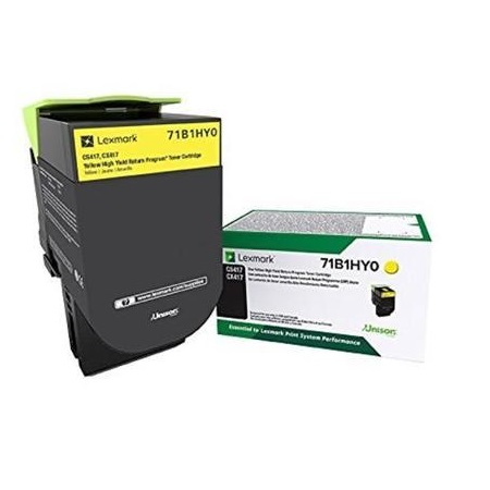 Lexmark 71B1HY0 Yellow Original High Yield Return Program Toner Cartridge
