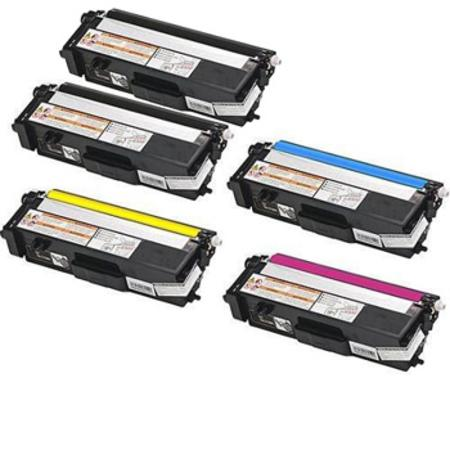 TN315BK Full Set + 1 EXTRA Black Remanufactured Toner Cartridge