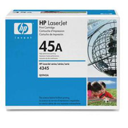 HP LaserJet 45A (Q5945A) Black Original Standard Capacity Print Cartridge with Smart Printing Technology