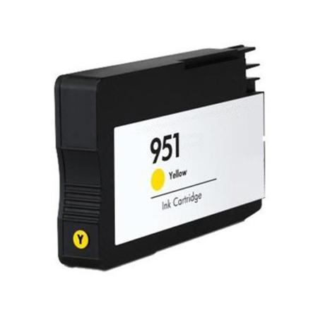 HP 951 Yellow Remanufactured Standard Capacity Ink Cartridge (CN052AN)
