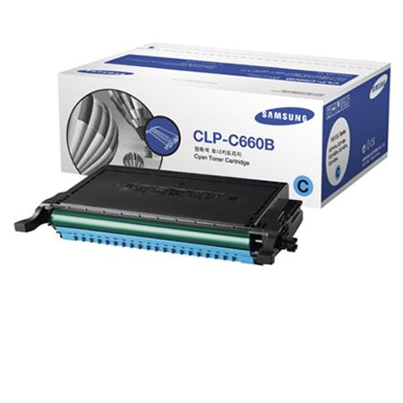 Samsung CLP-C660B Cyan High Capacity Original Toner Cartridge