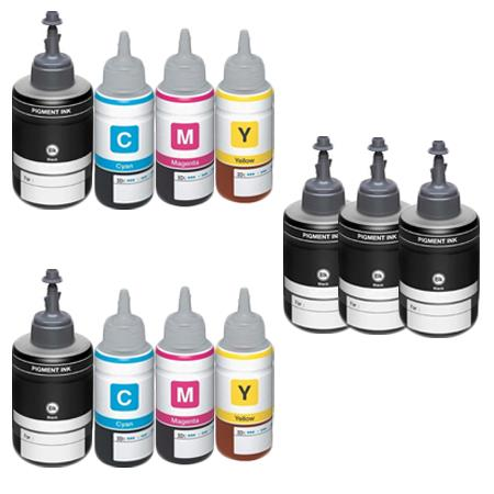 Clickinks T7741/T7744 2 Full Set + 3 EXTRA Black Remanufactured Inks