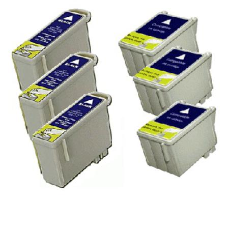 Compatible Multipack Epson T036/T037 3 Full Sets Ink Cartridges