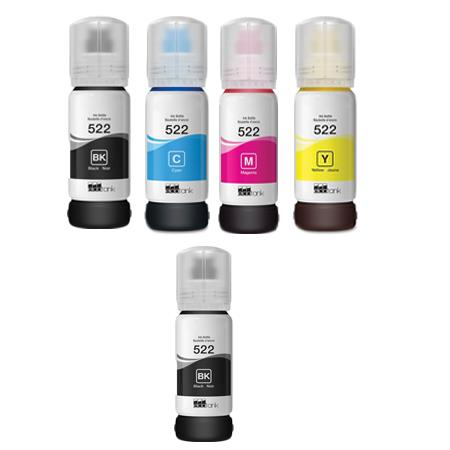 Compatible Multipack Epson T5221/24 Full Set + 1 EXTRA Black Ink Bottles