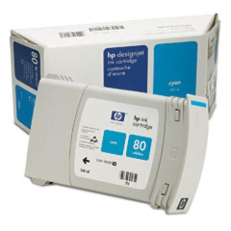 HP 80 Original Cyan Ink Cartridge (C4846A)