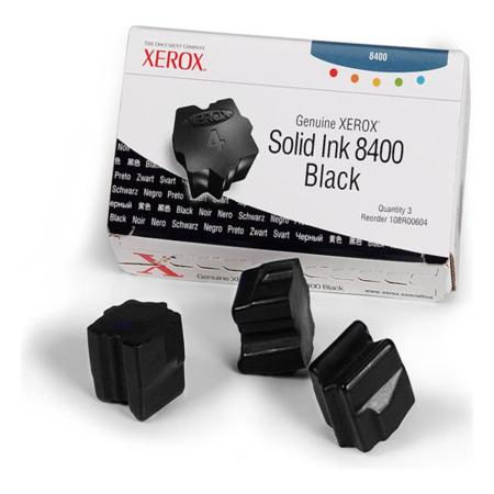Xerox 108R00604 Original Black Ink Sticks (Pack of 3)-USA Made