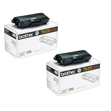 Brother TN670 Original Black Toner Cartridges Twin Pack