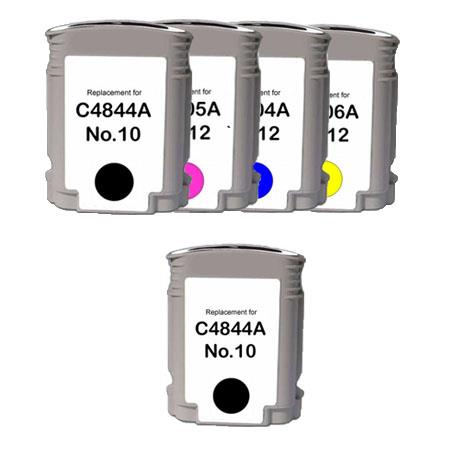 Compatible Multipack HP 10K/12C/M/Y Full Set + 1 EXTRA Black Ink Cartridges
