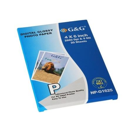 Digital Glossy Photo Paper 4x6 20 Sheets