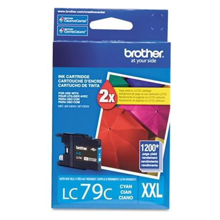 Brother LC79C Original Cyan Super High-Yield Ink (LC-79C)