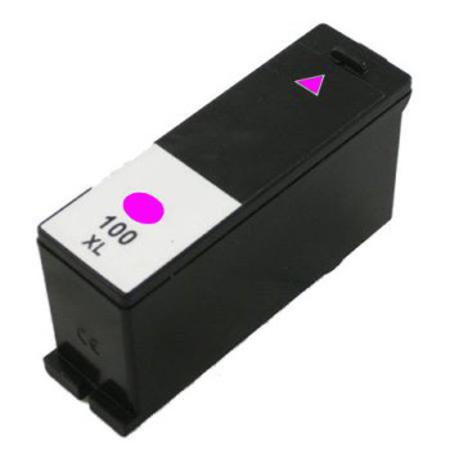 Lexmark 100XL (14N1070) Magenta Remanufactured High Yield Ink Cartridge-Newest Version