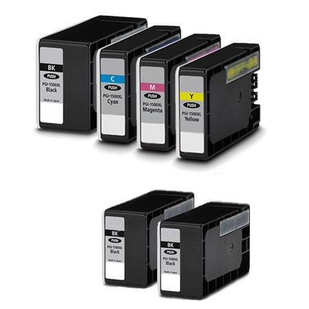 PGI-1200XL BK/C/M/Y Full Set + 2 EXTRA Black Compatible Inks