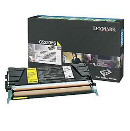 Lexmark C5220YS Original Yellow Return Program Toner Cartridge