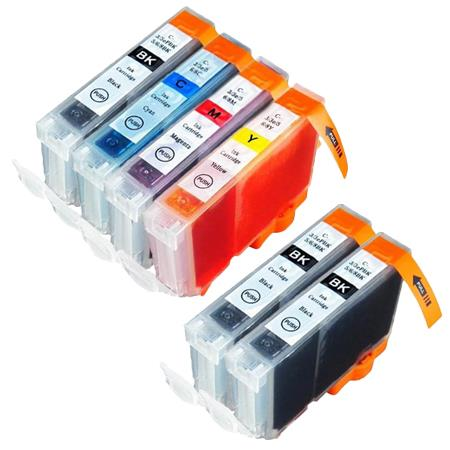 Compatible Multipack Canon BCI-6 BK/C/M/Y Full Set + 2 EXTRA Black Inkjet Cartridges