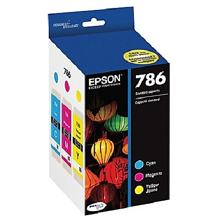 Epson 786 C/M/Y Original Ink Cartridges - 3 Pack