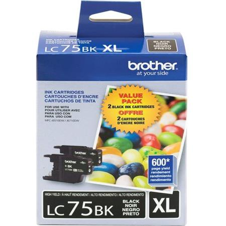Brother LC752PKS Twin Pack Original High Capacity Ink Cartridge - 2 Pack