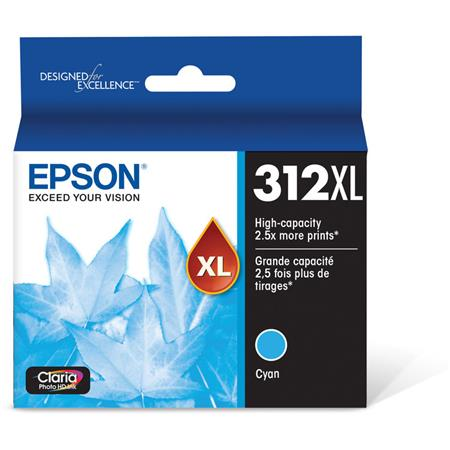 Epson 312XL (T312XL220) Cyan Original High Capacity Ink Cartridge