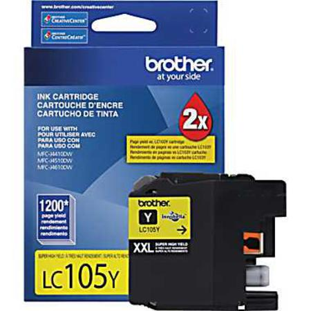 Brother LC105Y Yellow Original Extra High Capacity Ink Cartridge