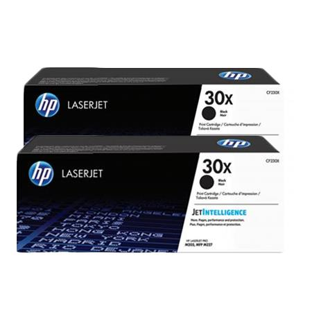 HP 30X Black Original High Capacity Toner Cartridges Twin Pack