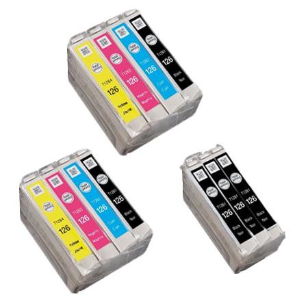 Compatible Multipack Epson 126 2 Full Set + 3 EXTRA Black Ink Cartridges